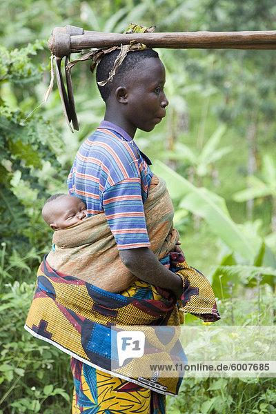 Dorf von Masango  Provinz von Cibitoke  Burundi  Afrika