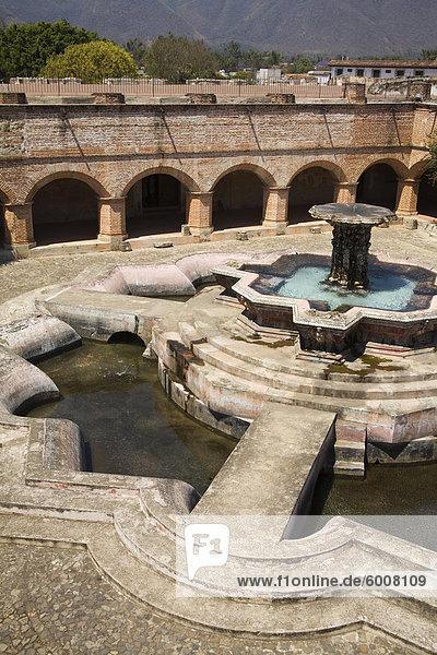 Fountain at La Merced  Antigua City  Guatemala  Central America