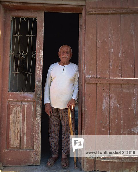Portrait of elderly man  Paralimni  Cyprus  Europe