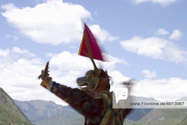 Buddhist Festival (Tsechus)  Haa Valley  Bhutan  Asia