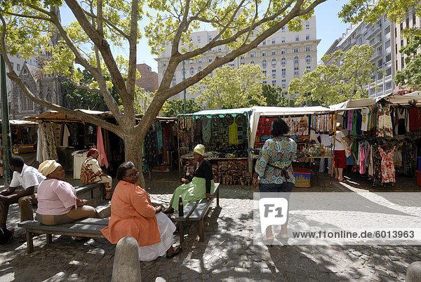 Marktplatz  Zentrum der Stadt  Kapstadt  Südafrika  Afrika