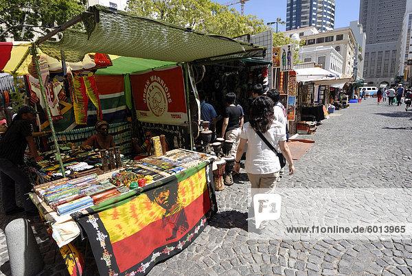 Zentrum der Stadt Markt  Kapstadt  Südafrika  Afrika