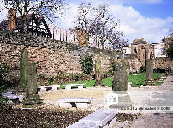 Roman Park  Chester  Cheshire  England  Vereinigtes Königreich  Europa