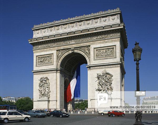 The Arc de Triomphe  Paris  France  Europe