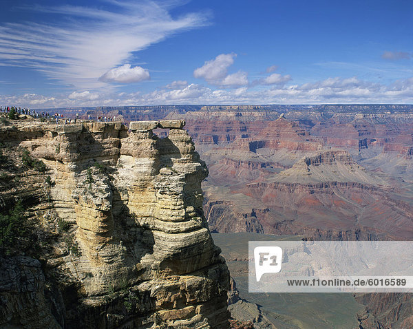 The Grand Canyon seen from the North Rim  UNESCO World Heritage Site  Arizona  United States of America  North America