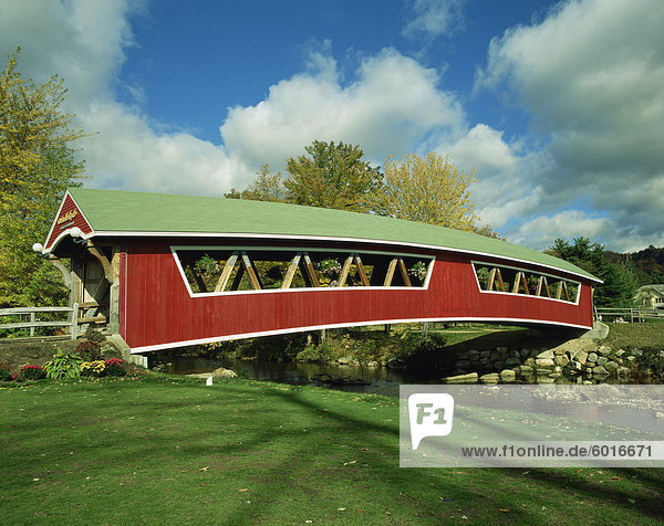 Covered bridge at Conway  New Hampshire  New England  United States of America  North America