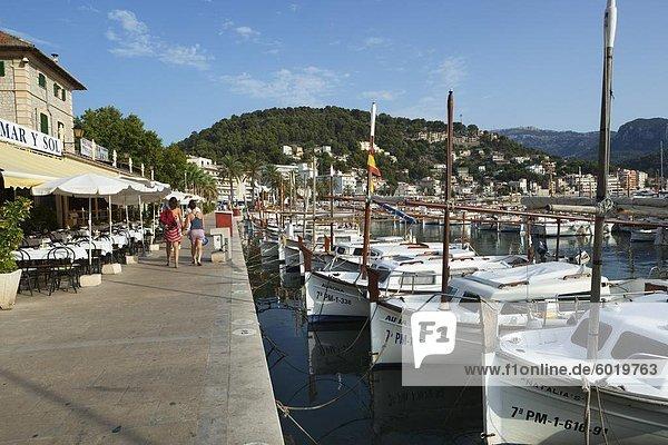 Hafen  Port de Soller  Mallorca (Mallorca)  Balearen  Spanien  Mediterranean  Europa