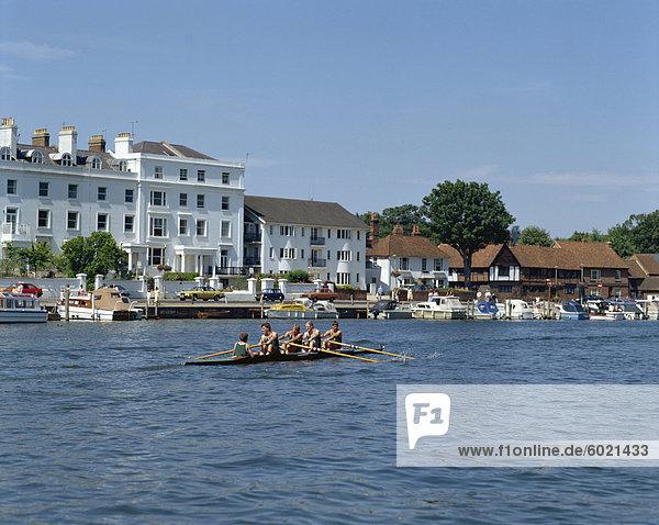 Themse in Henley on Thames  Oxfordshire  England  Vereinigtes Königreich  Europa