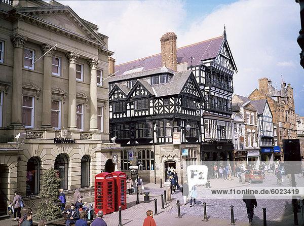Eastgate Street  Chester  Cheshire  England  Vereinigtes Königreich  Europa