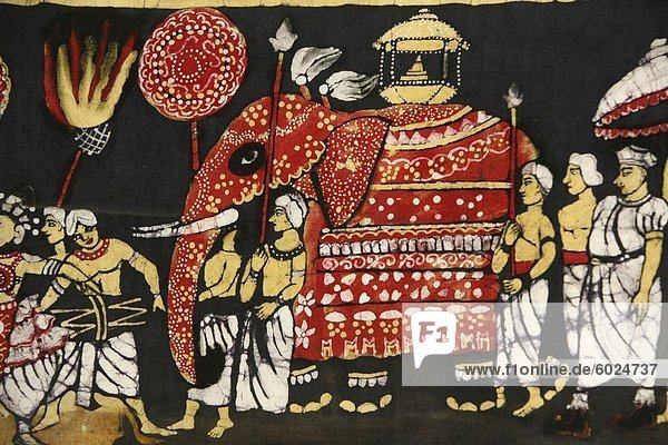 Stoff Drucken Darstellung Zahntempels Buddha in der Perahera in Kandy  Sri Lanka  Asien Stoff Drucken Darstellung Zahntempels Buddha in der Perahera in Kandy, Sri Lanka, Asien