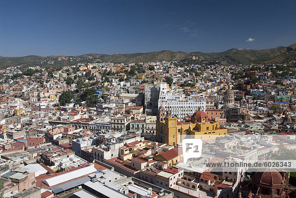 Overview of Guanajuato city from the monument of El Pipila  Guanajuato  Mexico  North America