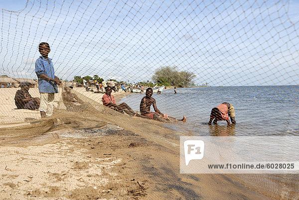 Mangochi Strand  Lake Malawi  Malawi  Afrika