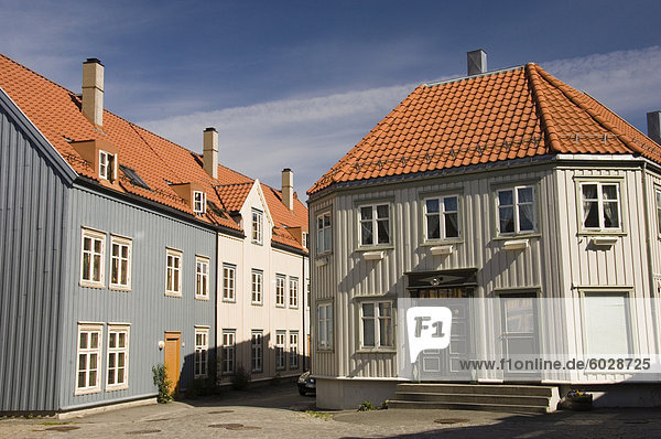 Europa Gebäude Stadt Holz Norwegen alt Skandinavien Trondheim