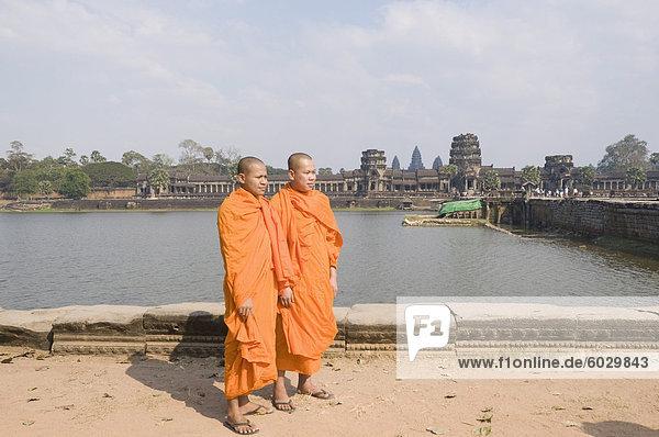 Angkor Wat Tempel  12. Jahrhundert  Khmer  Angkor  UNESCO Weltkulturerbe  Siem Reap  Kambodscha  Indochina  Südostasien  Asien