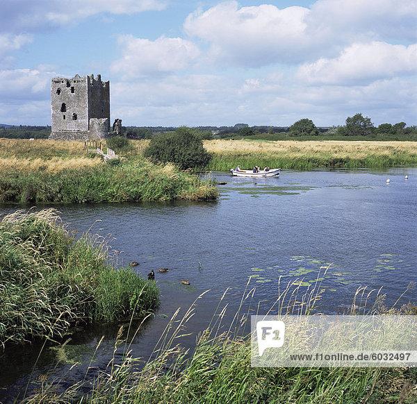Threave Insel und Burg  Dumfries and Galloway  Schottland  Vereinigtes Königreich  Europa