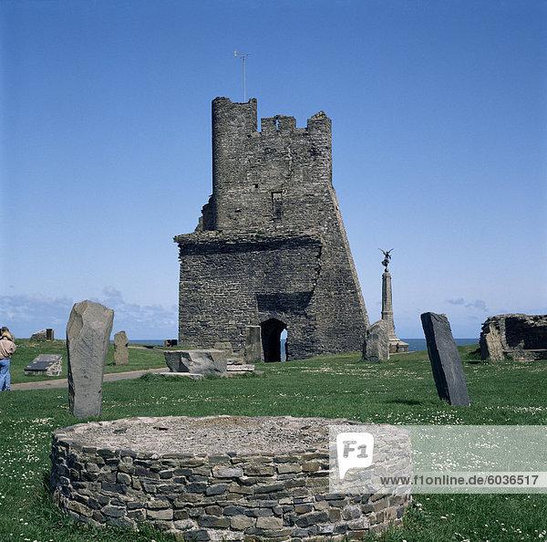 Aberystwyth Castle  dieses  Dyfed  Wales  Vereinigtes Königreich  Europa