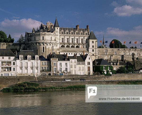Schloß von Amboise  UNESCO Weltkulturerbe  Indre-et-Loire  Loire-Tal  Centre  Frankreich  Europa