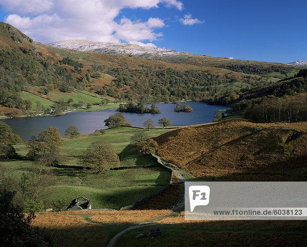 Rydal Wasser  Lake District-Nationalpark  Cumbria  England  Vereinigtes Königreich  Europa