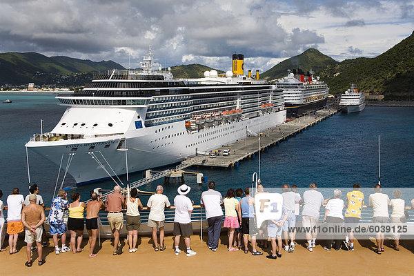 Cruise ship Terminal  Wathey Pier  Philipsburg  St. Maarten  Netherlands Antilles  Leeward Islands  West Indies  Caribbean  Central America