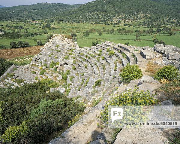Römisches Theater  Patara  Anatolien  Türkei  Kleinasien  Asien