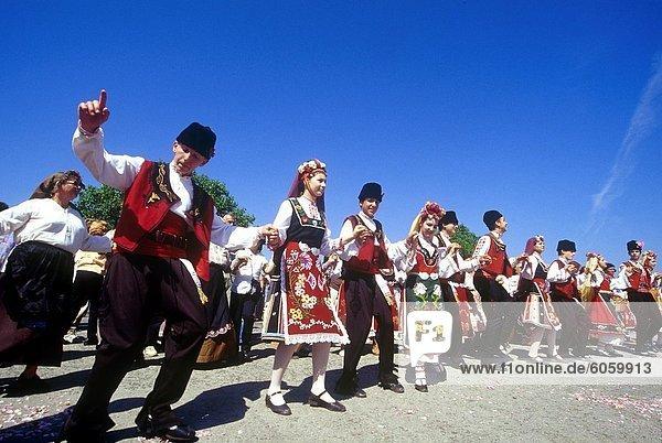 Europa tanzen Festival Mensch Bulgarien Rose