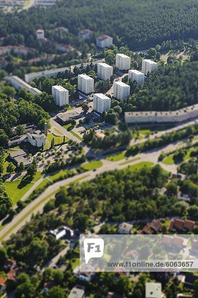 Nachbarschaft Ansicht Luftbild Fernsehantenne Ortsteil