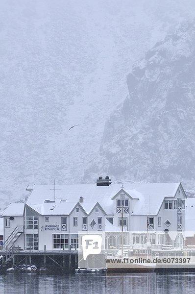 Winter Dorf angeln