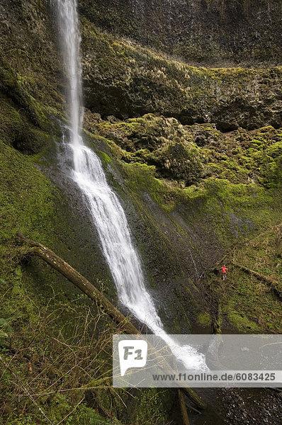 Vereinigte Staaten von Amerika  USA  Frau  folgen  rennen  Wasserfall  Oregon