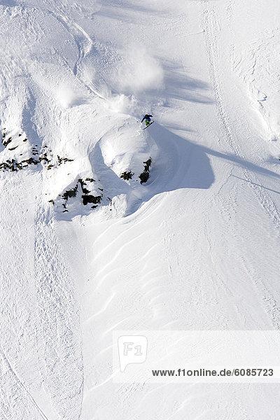 Landschaft  Skifahrer  drehen  Grad Celsius  Alaska