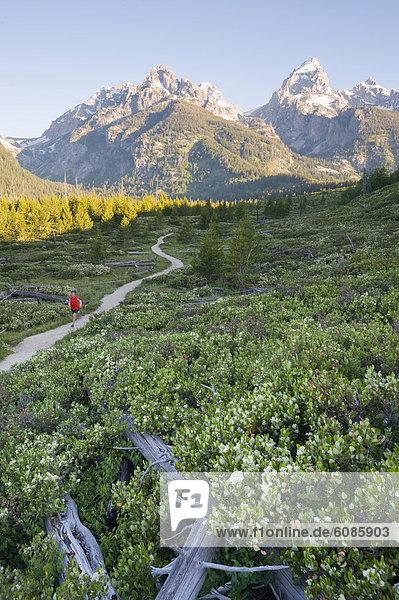 Mann  nehmen  Morgen  folgen  rennen  Ehrfurcht  früh  jung  Wyoming