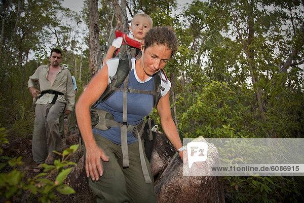 Rucksack  Frau  tragen  Australien  Queensland