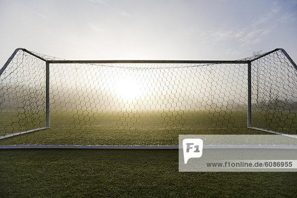 Sport  sehen  Morgen  Beleuchtung  Licht  Ziel  weiß  Nebel  Feld  Herbst  Reinheit  Fußball  Torf