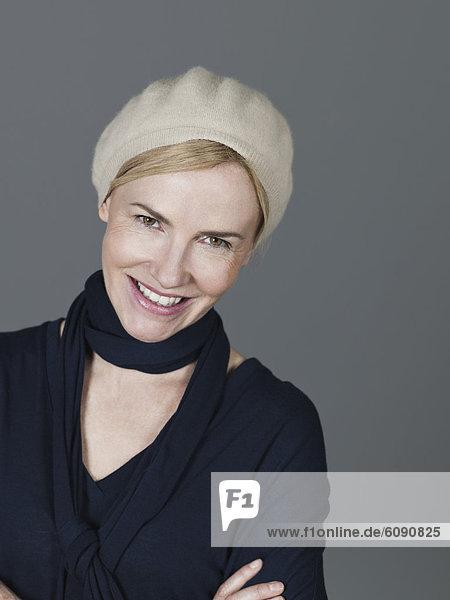 Reife Frau lächelnd  Portrait