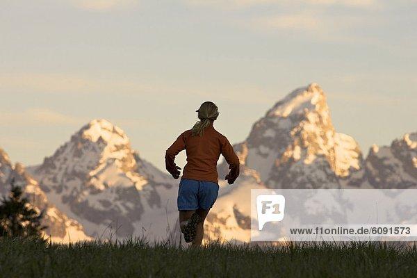 Frau  folgen  rennen  Wyoming