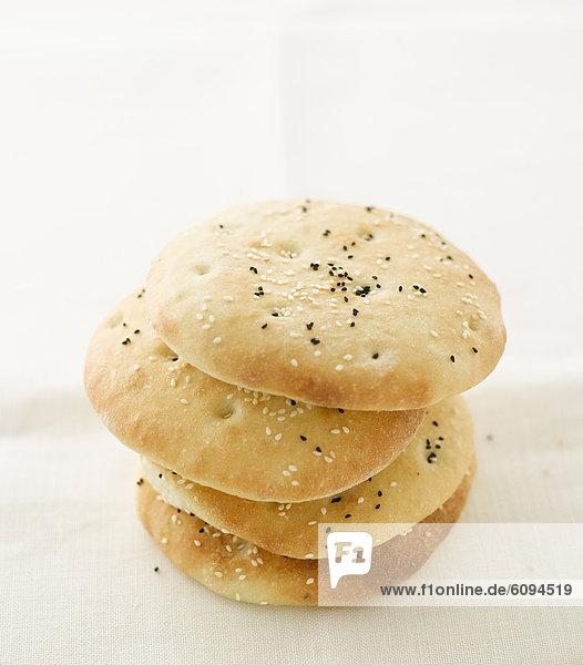 Stapel Pitta-Brot  Nahaufnahme