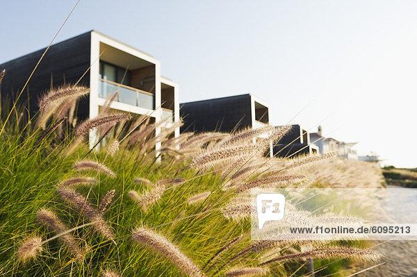 Portugal  Blick auf das Strandhotel