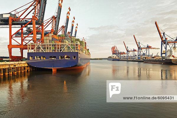 Deutschland  Hamburg  Blick auf den Containerhafen