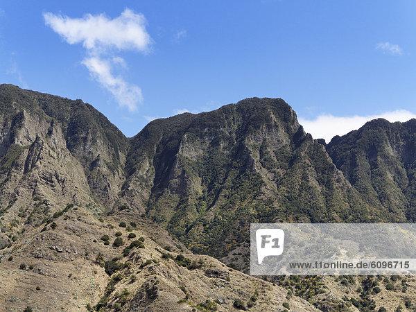 Spain  La Gomera  View of Hermigua