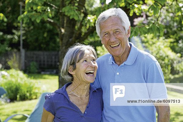 Germany  Bavaria  Senior couple smiling