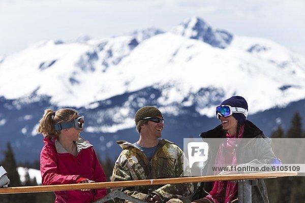Fröhlichkeit  Freundschaft  Tag  lächeln  Ski  3  lachen  Colorado  Spaß