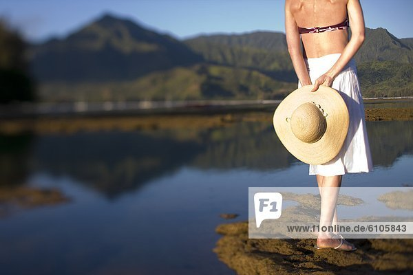 Frau  Strand  Hawaii
