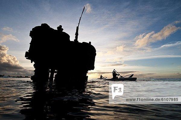 passen  Schiff  Ruine  Ruderer  Cook-Inseln  Rarotonga