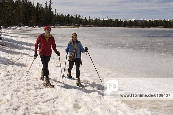 Mensch  Menschen  See  Colorado  Schneeschuhlaufen