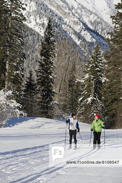 folgen  Skisport  Ski  gepflegt  Langlaufski