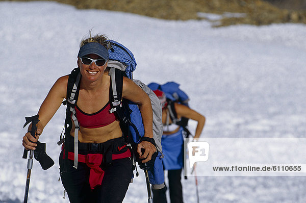 women ski touring  Cerro Mercedario