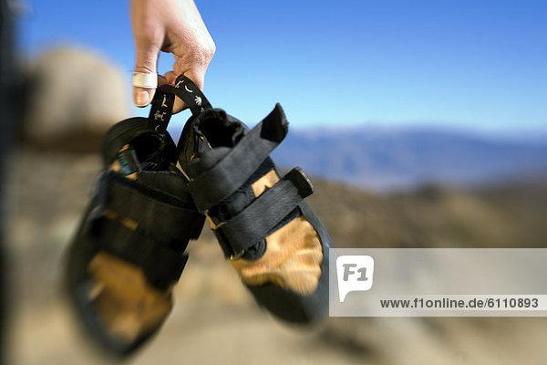 halten  Schuh  klettern