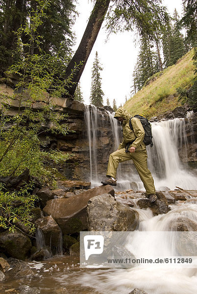wandern  Bach  Wasserfall  Kohle