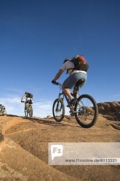mountain bikers  Moab  Utah