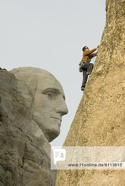 Felsbrocken  Mann  klettern