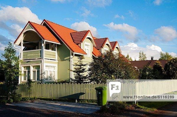 Europa Wohnhaus Jahrhundert Ortsteil Finnland